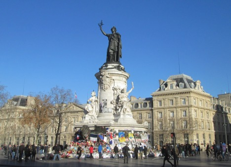 Statue of Marianne at Place de la République, Paris