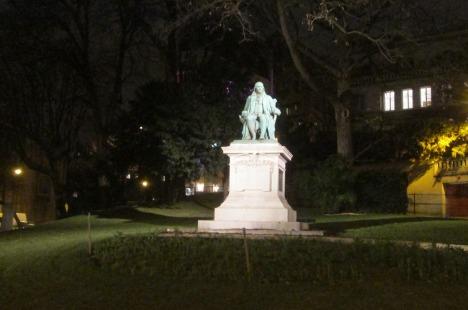 Ben Franklin statue at Trocadéro, Paris