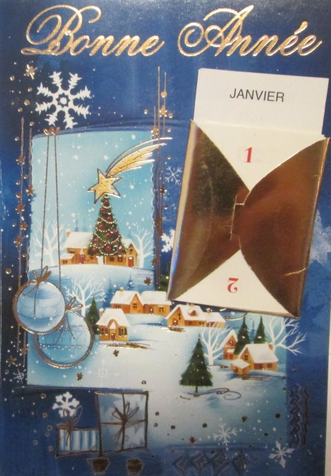 Bonne Année card from French friends