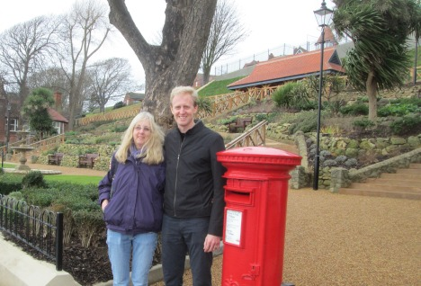 with my son at Town Hall gardens, Felixstowe