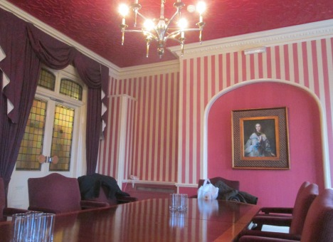 Other end of the  conference table & room, Orwell Hotel