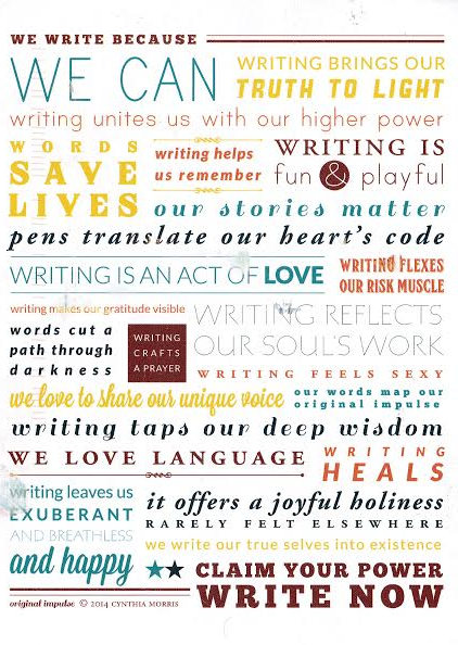 writing poster by Cynthia Morris, Original Impulse