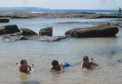 Rock pools at Norah Head, NSW Central Coast