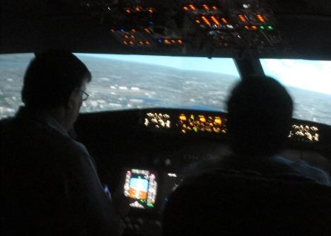 Clive at the controls