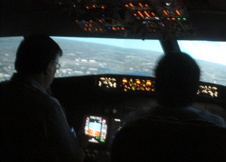 Clive at the controls