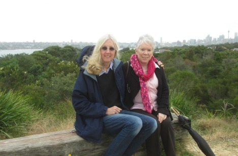with my friend Julie at Georges Heights, Mosman