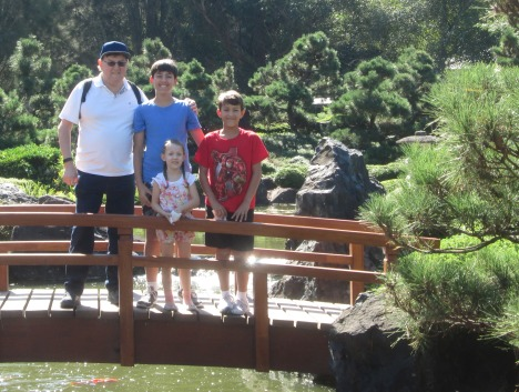 Clive & grandchildren at Japanese Garden
