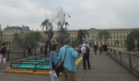 Sculpture on the Pont des Arts, Paris