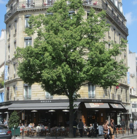 A sun-soaked café terrace, Paris