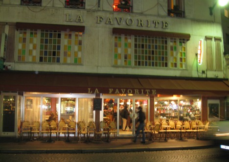 Café with its former façade, December 2008