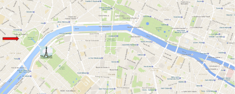 Red arrow points to Ben's location